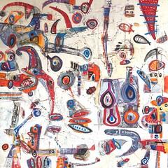 11019,90x90cm (luis lara cabrera) Tags: pintura painting art lara arte luis cuervo acrilico contemporaneo abstracto figurativo artista maestro rojo figuras shapes color colores