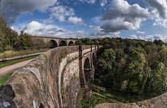 Marple marvels (OzzRod) Tags: pentax k1 smcpentaxda1017mmf3545fisheye aquaduct masonry canal peakforestcanal marple england dailyinoctober2019