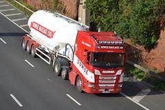 Dowse Haulage FX69SNN - M60,Stockport (dwb transport photos) Tags: dowsehaulageltd scania hgv truck fx69snn m60 stockport