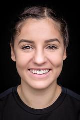 DSCF2379-17 (YouOnFoto) Tags: girl meisje woman vrouw closeup dichtbij eyes ogen smile glimlach lach intense intens sport handbal laura piercing face gezicht