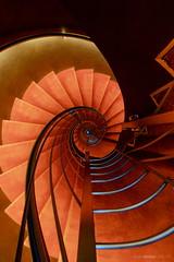 Red Carpet (bjoernahrensfotografie) Tags: munich münchen minimal abstract architektur architecture spiral lookup lookdown stairs staircase treppe treppenhaus escalier