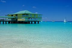 Pier in beautiful Barbados (` Toshio ') Tags: toshio barbados caribbean island atlantic atlanticocean pier restaurant water sail sailboat sailing snorkeling fujixe2 xe2