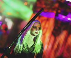 Scare Actor in Rob Zombie Hellbilly Deluxe Scare Zone at Universal Orlando's Halloween Horror Nights 2019 (hernandez.philip) Tags: halloweenhorrornights halloween hauntedhouses hauntedattraction makeup costume orlando florida