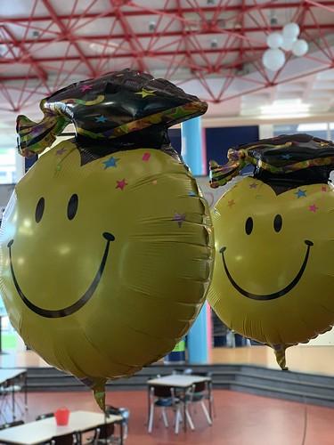 Cloudbuster Rond Folieballon Smiley Diplomering Penta College Spijkenisse