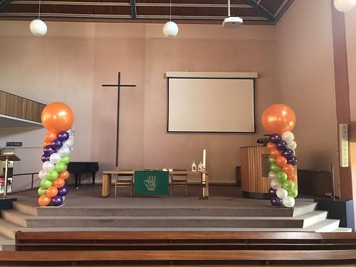 Ballonpilaar Breed Diplomering CVO-AV PKN Johanneskerk Gorinchem