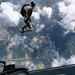 ROK Special Warfare Command service members participate in the combined military freefall jump