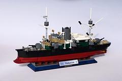 KK Valkyrien (1) (henrik.soeby) Tags: lego ironclad cruiser valkyrien scalemodels steamer