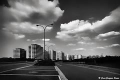 3118 - De Panne, 2018 (ikaune) Tags: nb bw noiretblanc blackandwhite ikaune argentic argentique monochrome belgique lapanne immeubles buildings