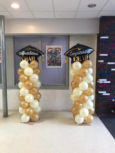 Ballonpilaar Breed Diplomering Groen College Barendrecht