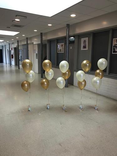 Tafeldecoratie 3ballonnen Diplomering Groen College Barendrecht