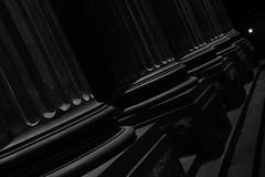 Bendigo At Night (Tony 5) Tags: blackwhite city monochrome art architecture street column building time earie noir class style artdeco night nightshoot dark life light burst nightsky sky design photo photography capture photoart reallife stage theatre steps office stone strong