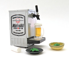 Japanese Pub # 1 (MurderWithMirrors) Tags: rement miniature food meal beer plate bowl mwm napkin edamame