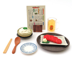 Japanese Pub # 2 (MurderWithMirrors) Tags: rement miniature food meal plate bowl mwm chopsticks spoon tray tomato tofu menu izakayanonbee whiskey