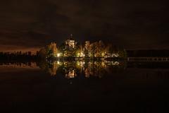 Dark Night (gubanov77) Tags: night longexposure reflection russia vvedenskymonastery vvedenskoelake vladimiroblast monastery pokrov landscape