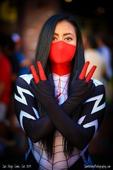 Spider-Woman at San Diego Comic Con International 2019 (Sam Antonio Photography) Tags: comiccon comicconinternational sandiegocomiccon female woman spiderwoman cosplay cosplayer spider people web black beautiful dark beauty costume spiderweb trickortreat attractive athletic fit fitness young stylish strong heroine