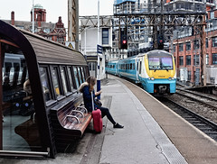 Best Foot Forward (whosoever2) Tags: uk united kingdom gb great britain england sony rx100m3 train railway railroad october 2019 tfw class175 175010 manchester oxford road station 1d35 bangor coradia dmu