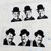 Laurel & Hardy pasted paper by A.L.Tony [Paris 2e]