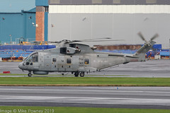 ZH847 - 2000 build EH Industries EH.101 Merlin HM.2, taxiing for departure at Prestwick (egcc) Tags: cu 50111 egpk ehindustries eh101 helicopter jw192 jointwarrior jointwarrior192 lightroom merlin merlinhm2 pik prestwick rn royalnavy westland zh847