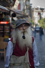 Pipe (efeardic) Tags: shot with sony 6000 canon fd 50mm f18 portrait pipe beard man street photography hat lens alpha