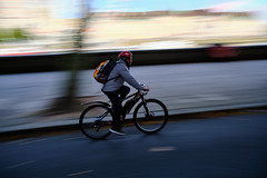 *** (jarekwojtowicz) Tags: panning colourstreetphotography fujifilm fujicron bicycle