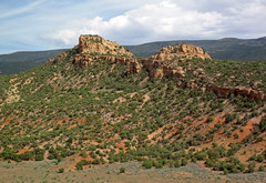 Glen Canyon Sandstone over Chinle Formation (Dinosaur National Monument, Utah, USA) 7 (James St. John) Tags: glen canyon sandstone dinosaur national monument utah navajo nugget quartzose sandstones triassic jurassic chinle formation