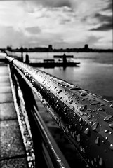 Portsmouth Harbour (Robbie Khan) Tags: mobile smartphone android samsung galaxy galaxys10 galaxys10e s10e s10 photography blackandwhite bnw uk portsmouth hampshire water rain raindrop raindrops phones cloud sea lines leading composition snapseed googlephotos photos