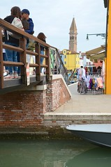 Burano (Joe Shlabotnik) Tags: italia campanile belltower 2019 italy bridge canal venezia venice april2019 burano afsdxvrzoomnikkor18105mmf3556ged faved twoviewsonefave