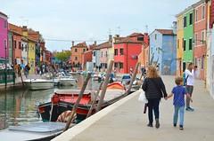 Everett & Mommy In Burano (Joe Shlabotnik) Tags: canal proudparents everett boats april2019 sue venice burano venezia italia italy 2019 afsdxvrzoomnikkor18105mmf3556ged