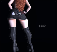"top+skirt ""boo!"" (KoyukiKytori) Tags: セカンドライフ koyuki secondlife secondlifeevent event uncharted unchartedevent avatar avatarfashion secondlifefashion mesh halloween 3dgame"