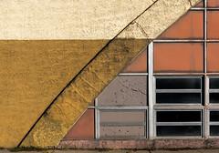 A small section of Dover (MTR70) Tags: art architecture windows window mustardyellow orange white facades facade vintage building buildings black dover nj newjersey