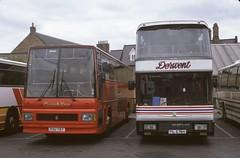 114. PSU 787 (originally C495 LJV): Cumberland + FIL 6784 (originally SPY 375X): Derwent Coaches, Swalwell (chucklebuster) Tags: psu787 fil6784 c495ljv spy375x cumberland coachline peter sheffield grimsby cleethorpes transport martindale yelloway derwent coaches neoplan skyliner leyland tiger duple caribbean