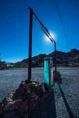 Top Gas (Nocturnal Kansas) Tags: night nocturnal moon full d800 nikon led1 protomachines nevada desert gas fuel pump