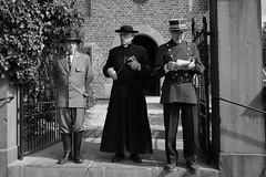 057 (boeddhaken) Tags: backintime timetravel 1900 1900s blackwhite bw retro retrostyle museum priest cop police