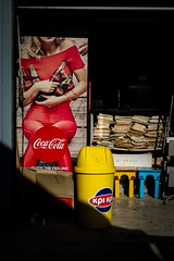 (Keith Vaughton) Tags: streetphotography cocacola travel xpro1 fujifilm colour light shadows yellow red
