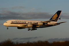 9V-SKT Airbus A380-841 EGLL 29-12-15 (MarkP51) Tags: 9vskt airbus a380841 a380 singaporeairlines sq sia london heathrow airport lhr egll england airliner aircraft airplane plane image markp51 sunshine sunny nikon d7100 goldenhour