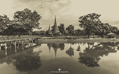 Reflections (www.ownwayphotography.com) Tags: travel temple buddhist culture traditional religion water ancient buddhism thai famous sky palace architecture landmark thailand building destination religious lake river bridge authentic siam kingdom