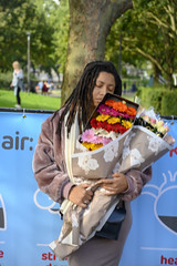 DSC_9006 Columbia Road Sunday Flower Market London with Alesha from Jamaica Breathe Clean. Toxic Air Killer Lung Disease and Asthma (photographer695) Tags: columbia road sunday flower market london alesha from jamaica with breathe clean toxic air killer lung disease asthma