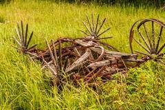 Transportation Before the Blessings of Carbon Fuels (MIKOFOX ⌘) Tags: proviaasbase canada learnfromexif grass meadow wheel xt2 wagon roadtrip showyourexif mikofox july iron wood summer fujifilmxt2 springs alberta xf18135mmf3556rlmoiswr