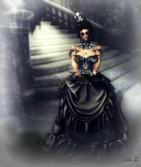 ⤖ĿØTÐ 33⬻ The rose of my beast (Savanha Portal) Tags: crown hair goth black halloween rose beast maitreya noire justbecause savanha gouki dress classy nails claws love skull hand tattoo blood collar victorian gothique woman femme blog blogs fashions events blogueuse fashion event secondlife second life firestorm sexy queen beauty jb