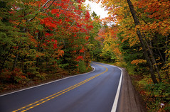 on the way to Copper Harbor, MI (ats8110) Tags: copperharbor d850 nikon fall colors up michigan