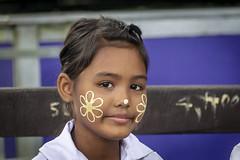 Flower girl (Lode Engelen - ลุงฝรั่ง) Tags: girl flowers tanaka sangklaburi thailand happyplanet asiafavorites