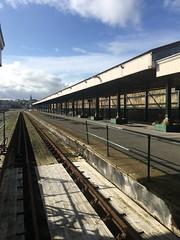 Ryde Pier Head Station (IoW_Sparky) Tags: iphone england ryde station pier pierhead platform track railway sky clouds coast angleterre gare jetée quai chemindefer ciel nuages côte canopée canopy disused abandoné