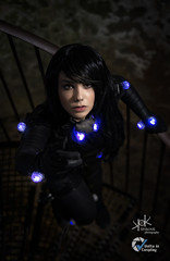 Marzia Dell'Orso as Reika from Gantz, at ViC 2019, by SpirosK photography (SpirosK photography) Tags: marziadellorso portrait cosplay anime manga gantz voltaincosplay2019 voltaincosplay spiroskphotography lowkey costumeplay palazzogonzaga tunnel dark monsters saveme