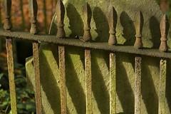 LongShadow (Tony Tooth) Tags: nikon d7100 sigma 70mm railings shadows gravestone cemetery graveyard spooky leek staffs staffordshire