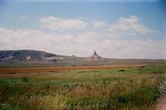 Chimney Rock, Nebraska (szmenazsófi) Tags: smenasymbol lomo smena analog analogue film 35mm outdoor nature prairie nebraska usa oregontrail chimneyrock grass grassland