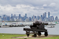 Melbourne skyline from Williamstown (Joe Lewit) Tags: sonnart18135 williamstown marina melbourne skyline cannon
