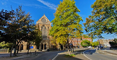 Turning Golden (Lawrence OP) Tags: rosaryshrine ourladyoftherosary london westminster diocesan autumn leaves gold
