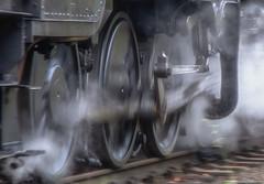 Motion (photofitzp) Tags: motion wheels steam smoke locomotive gcr railways bw blackandwhite panshot connectingrod piston cylinder slidebar blur