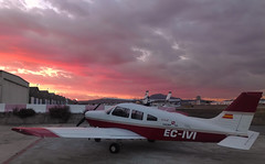 Piper warrior P28A (solapi) Tags: airplane oriolribera solapi beautiful pilot clouds sunset plane sabadell airport oriol ribera