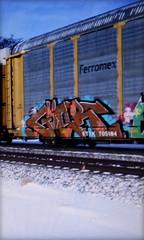 (timetomakethepasta) Tags: gier amfm mbark d2f payer freight train graffiti art ferromex autorack